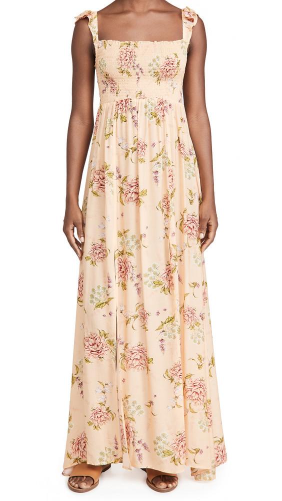 Agua Bendita Leandra Blomma Maxi Dress in peach