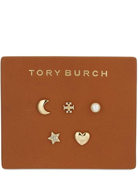 TORY BURCH Set Of 5 Celestial Stud Earrings in gold / multi