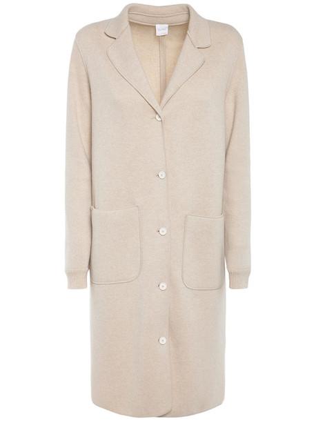 MAX MARA Wool Blend Knee Length Coat in beige