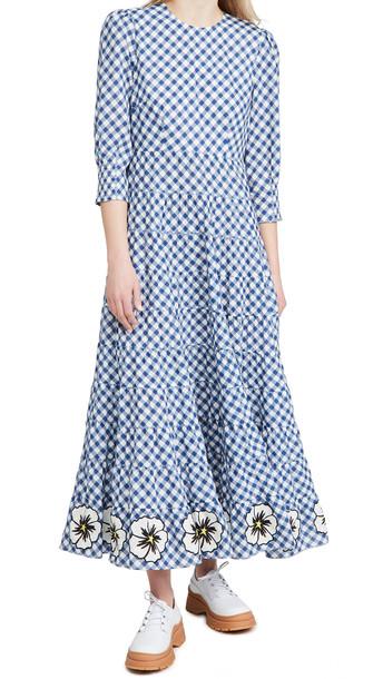 RIXO Kristen Dress in navy