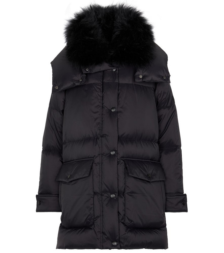Yves Salomon Army shearling-trimmed down coat in black
