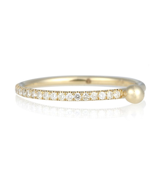 Wasson Fine Aligned Stack 14kt gold and diamond ring