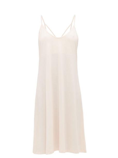 Skin - Odelle Pima Cotton Jersey Slip Dress - Womens - Light Pink
