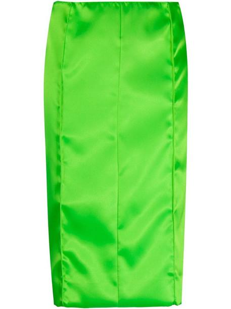 Kwaidan Editions size-zip midi skirt in green