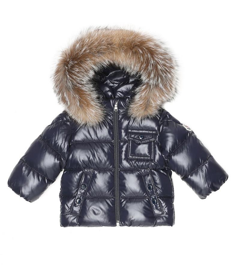 Moncler Enfant Hooded down coat in blue