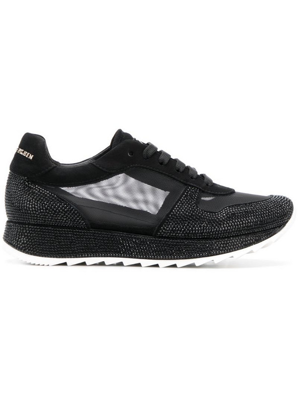 Philipp Plein mesh panel lace-up sneakers in black