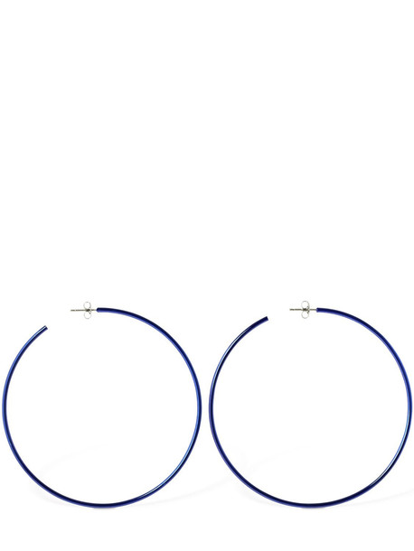 ISABEL MARANT Hip Big Colored Hoop Earrings in blue