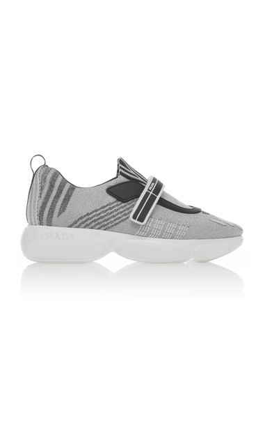 Prada Cloudbust Nylon Slip On Sneakers in grey
