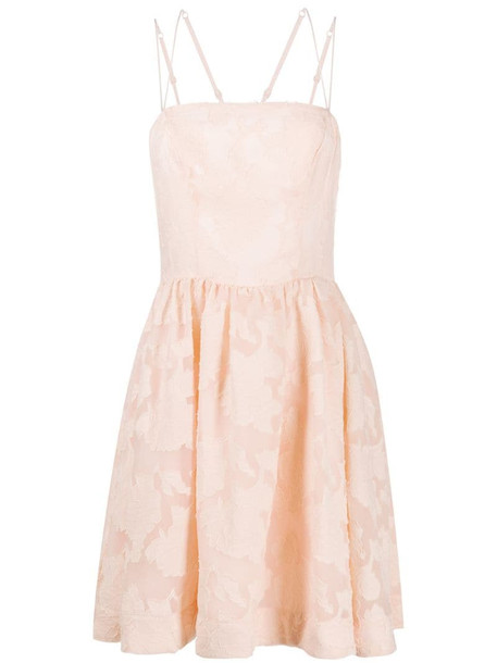 Keepsake The Label lace flared dress in pink