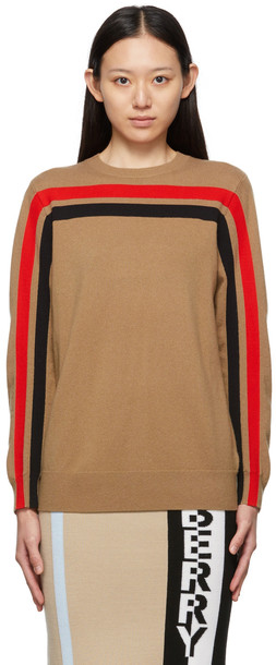 Burberry Beige Cashmere Steffy Crewneck Sweater