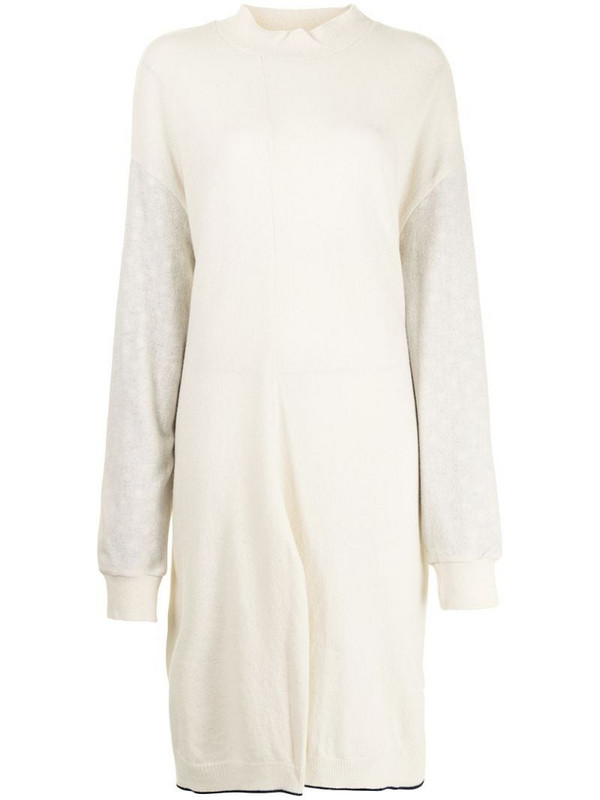 Y's oversized knitted dress in white
