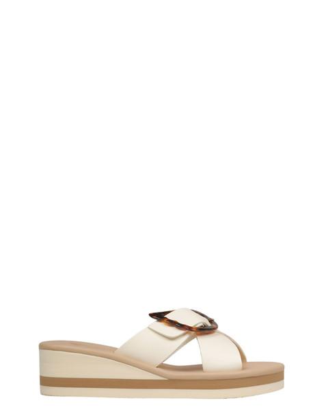 Ancient Greek Sandals Buckle-detail Sandals in white