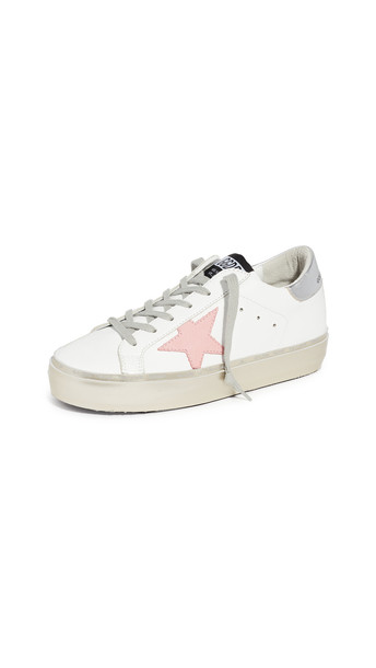 Golden Goose Hi Star Sneakers in gold / pink / silver / white