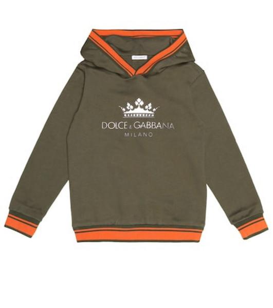 Dolce & Gabbana Kids Cotton hoodie in green