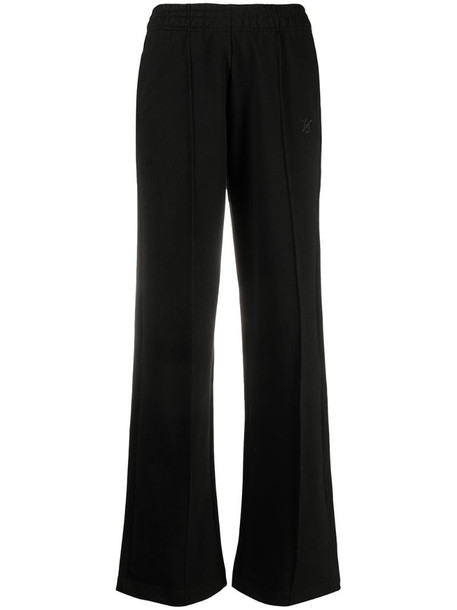 Daily Paper wide leg straight trousers in black