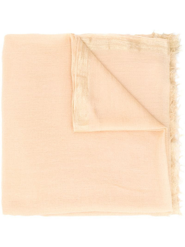 Faliero Sarti raw-edge scarf in neutrals