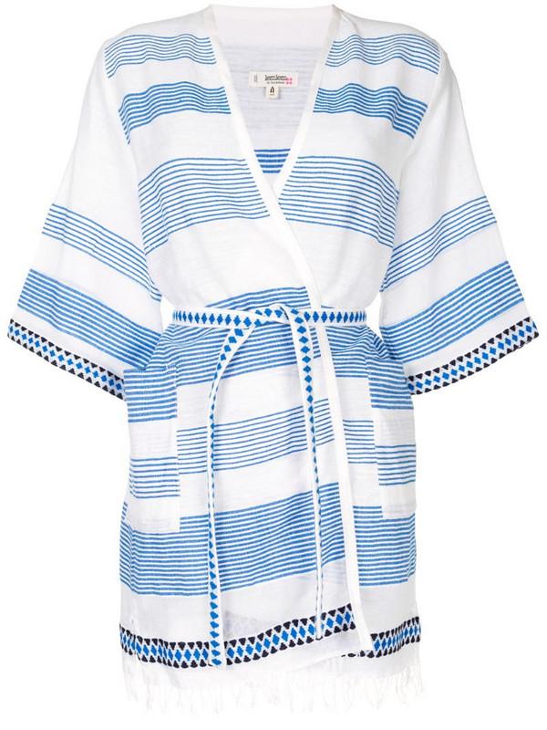 lemlem belted wrap beach dress