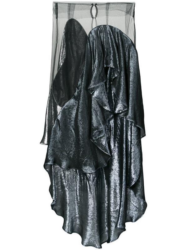 Paula Knorr panelled draped skirt in black