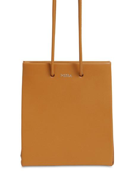 MEDEA Short Leather Shoulder Bag in brown