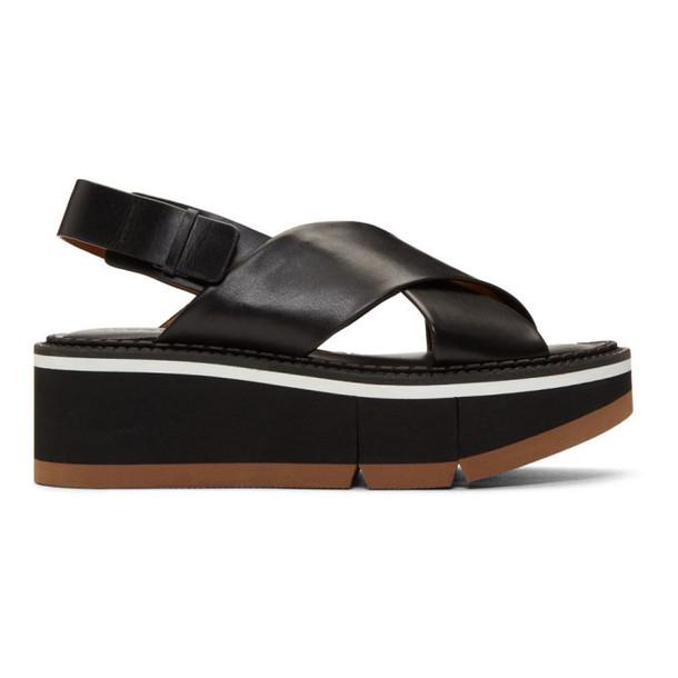 Clergerie Black Anae Platform Sandals