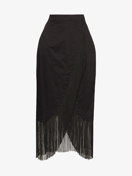 Taller Marmo TALLER M EL PAREO SKT WRP FRNG MDI in black