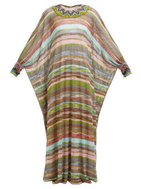 Missoni - Striped Knitted Mesh Dress - Womens - Multi