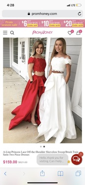 dress,red dress,two piece prom dresses