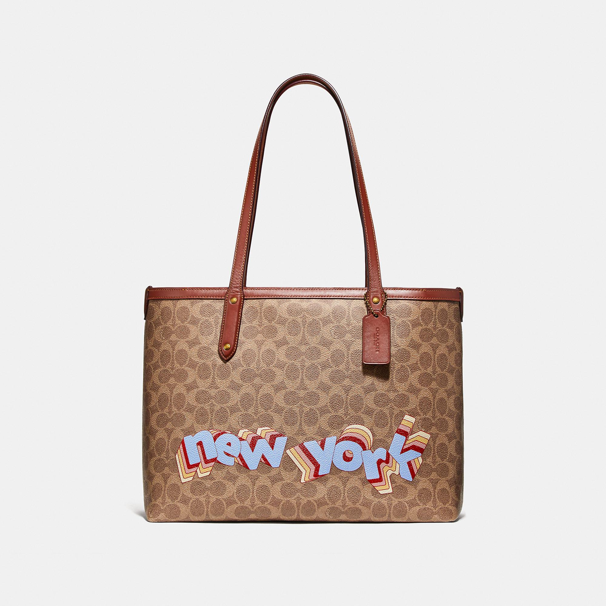 Central Tote With Zip In Signature Canvas By Tyler Spangler