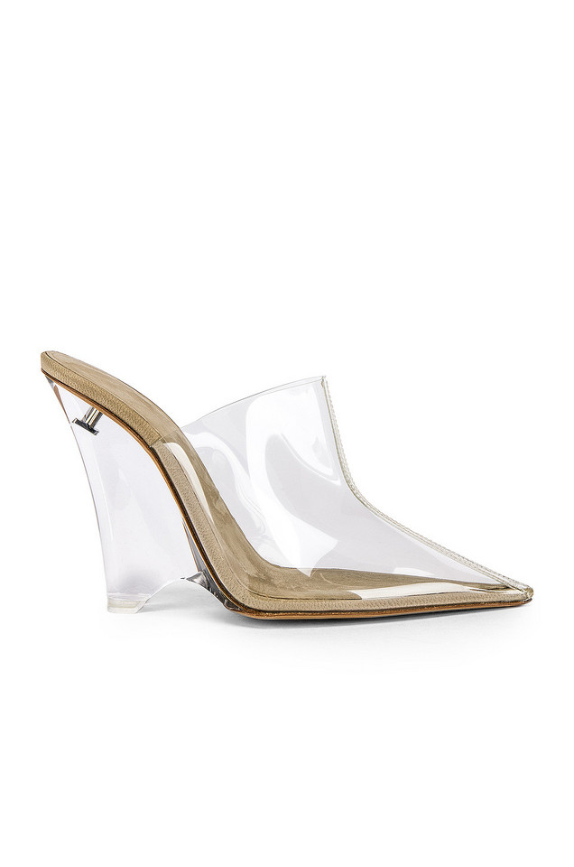 YEEZY SEASON 8 PVC Wedge Mule Pump in tan