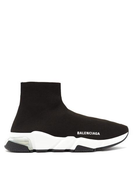 Balenciaga - Speed 2.0 Bubble-heel Trainers - Womens - Black White
