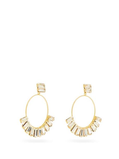 Rosantica - Osiride Crystal Hoop Earrings - Womens - Crystal