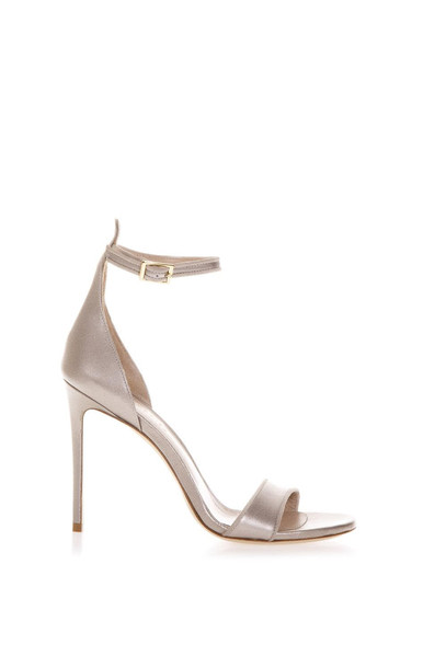 Aldo Castagna Taupe Brecelet Leather Sandals
