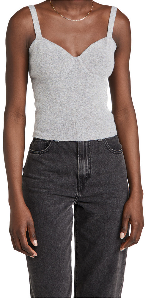 Line & Dot Bianca Sweater Cami in gray
