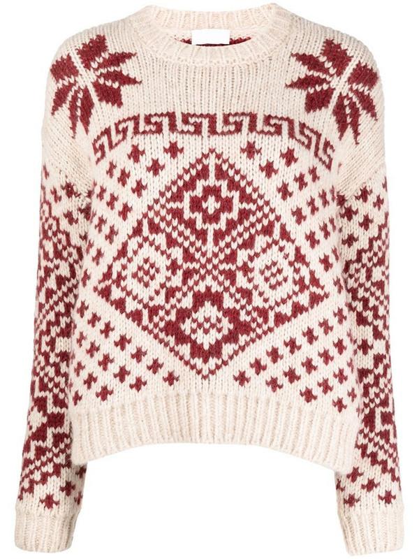 Roberto Collina intarsia knit jumper in neutrals