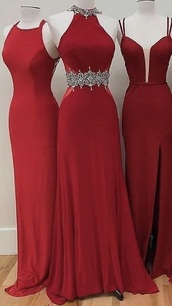 dress,red,prom,long