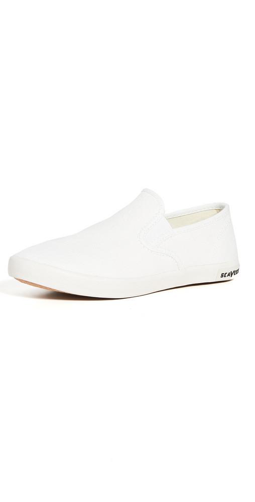 SeaVees Baja Classic Slip On Sneakers in white