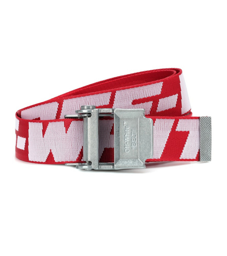 Off-White 2.0 industrial belt in red