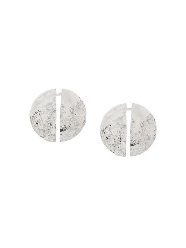Misho Split stud earrings in silver