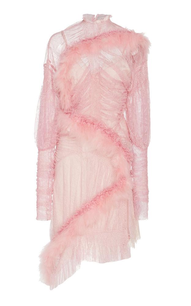 Preen by Thornton Bregazzi Meg Embellished Lace Mini Dress in pink
