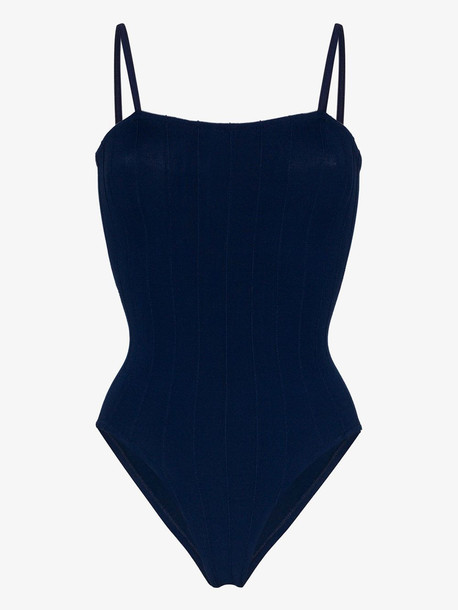 Hunza G Maria Nile swimsuit in blue