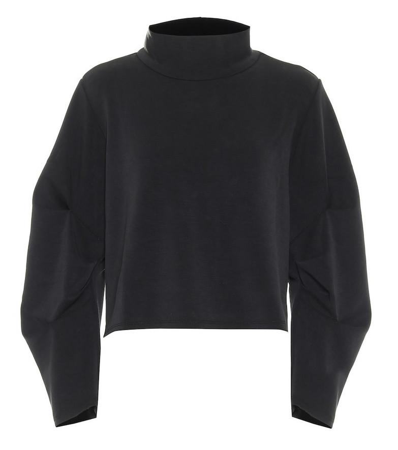 Lanston Sport Kenzie cropped sweatshirt in black