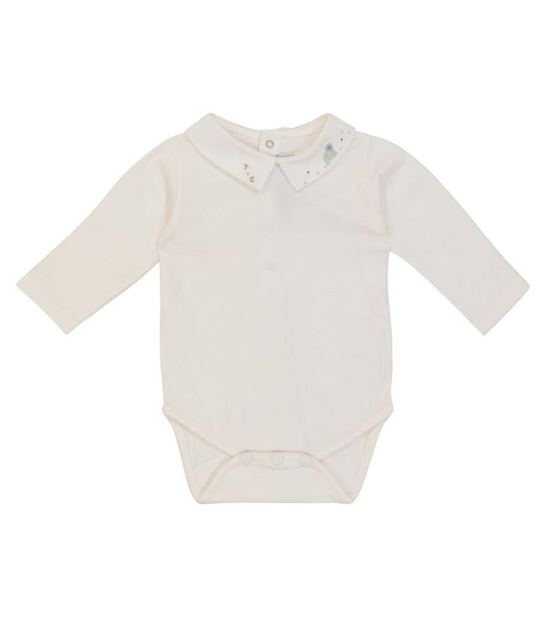 Tartine et Chocolat Baby stretch-cotton bodysuit in white