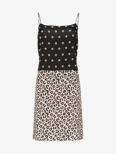 Sandy Liang Lara polka dot leopard print dress