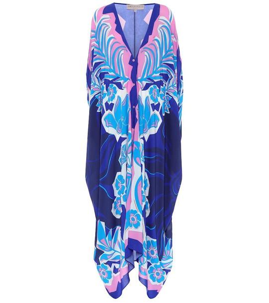 Emilio Pucci Beach Printed kaftan in blue