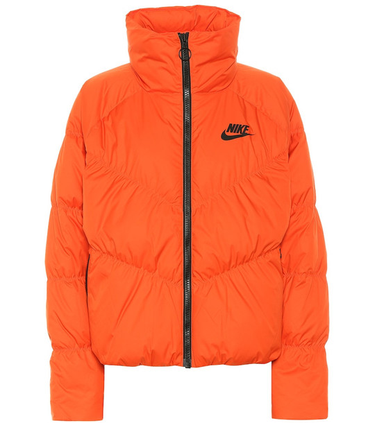 Nike Quilted puffer jacket in orange