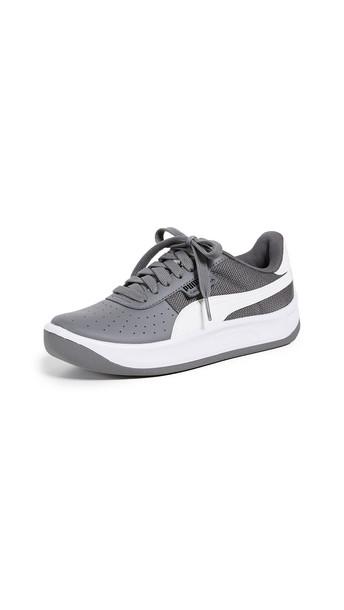 PUMA California Scratch Sneakers in black / white