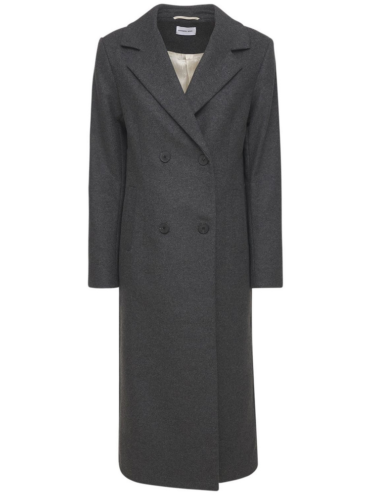 DESIGNERS REMIX Milano Recycled Wool Long Coat in grey