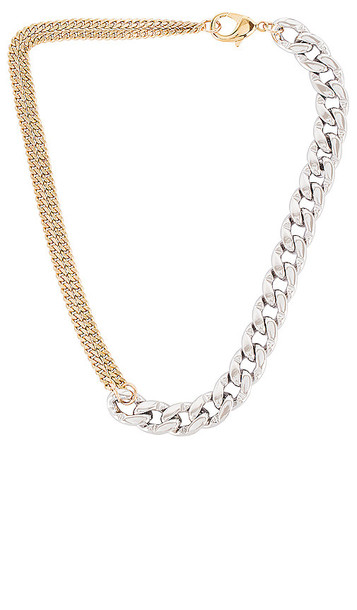 joolz by Martha Calvo Two Face Necklace in Metallic Silver