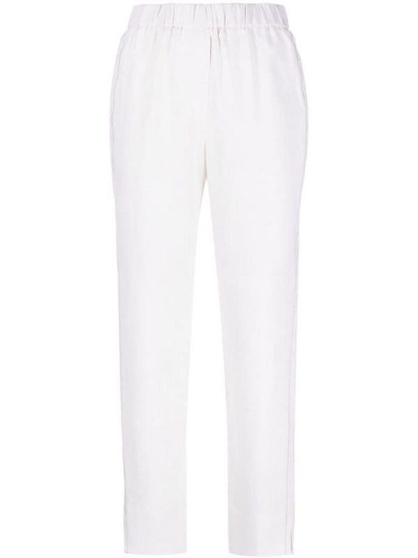 Peserico elasticated waist trousers in neutrals