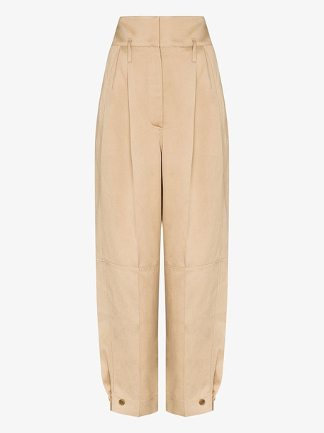 Givenchy Wide leg pleated trousers in neutrals
